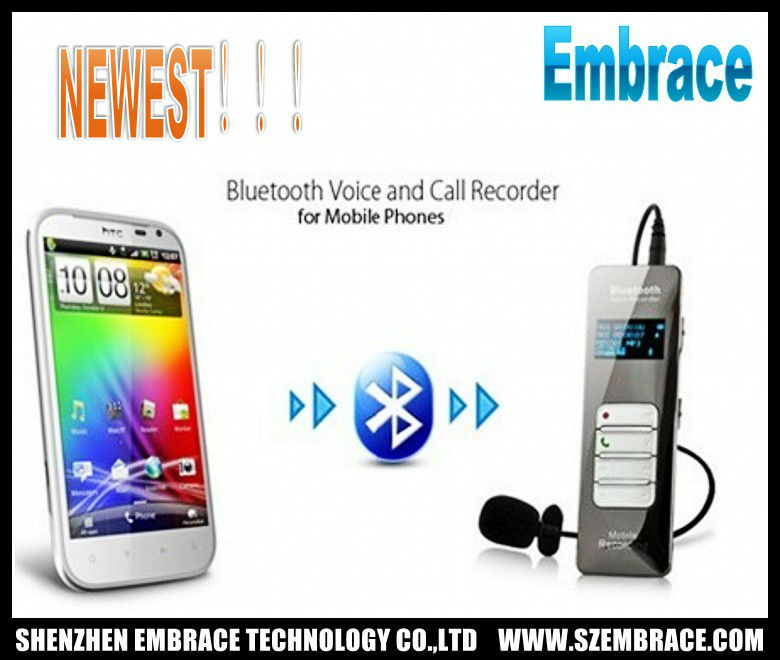 bluetooth voice and call recorder for mobile phone