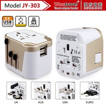 JY-303 USA patent protect Wontravel patent two usb charger universal quick charger multi travel charger