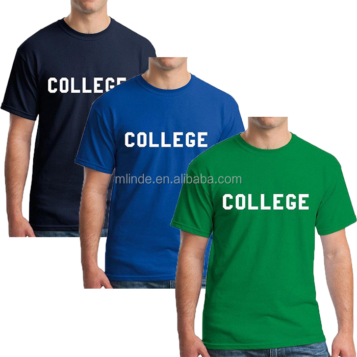 College Baseketball Uniform Designs Tee Shirt New Fashion Style 100 % Cotton Letter Printed Men Sport T Shirt For Varsity