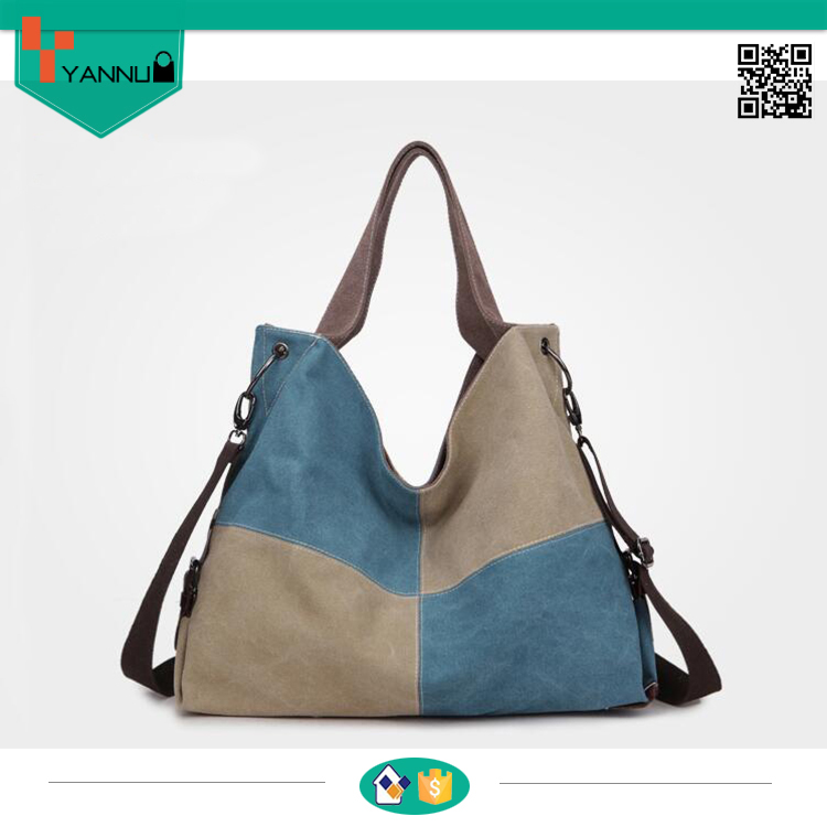 2016 new design vintage colorful canvas wholesale tote bags high quality bag women handbag