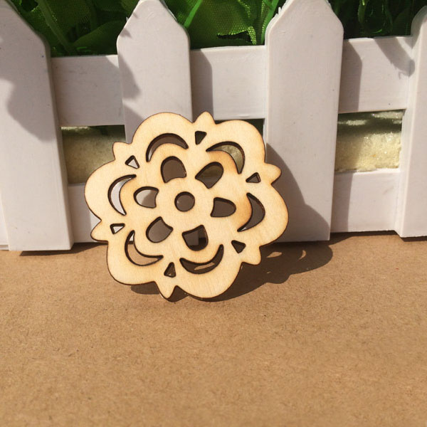 Wood flower Cutouts wooden rose Flower for Arts and Craft