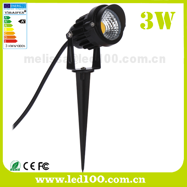 3w cob led jardin pelouse spot ext rieur lumi re 220v 12v for Eclairage exterieur 12v
