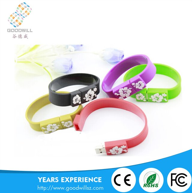 New design Silicone Slap USB Wrist Band Bracelet USB Flash Drive custom logo