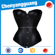 CYG-red and black latex rubber sexy lingerie corset waist training