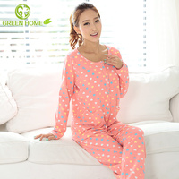 round collar popular design sleeping clothes for women