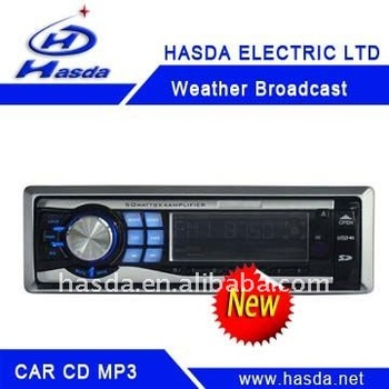 Car CD Mp3 player with SD,USB,supported and fold-down detachable panel