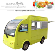 Chinese food truck tuc tuc electric truck food mobile coffee cart with wheels