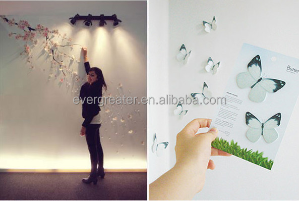Custom design room decor 3d wall stickers