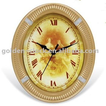 Oval Clock, Home Decoration, Gift Clock