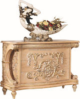 French New Baroque Classic Living Room Chest Of Drawer/European Royal Palace Hand Carved Side Cabinet
