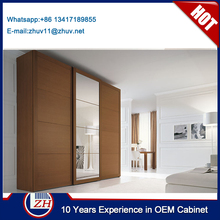 Cherry color sliding mirror wardrobe doors latest wardrobe door design