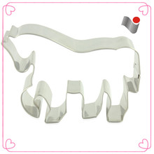 Clear silver metal tin horse cookie cutters