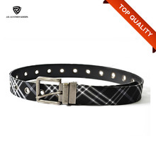 Fashion Mens Cloth Belts/Black Eyelet Cheap Belt for Men/Belt Manufacturer