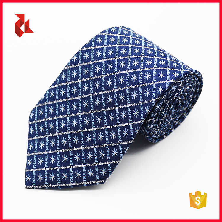 Men's Custom Polyester Company Logo Neck Tie