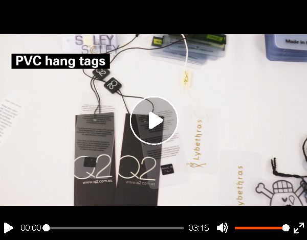 Eco-friendly clothing label and plastic tags for clothing