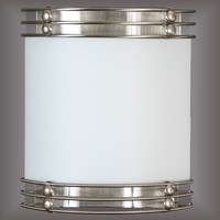 Hotel bathroom wall light Brushed Nickel Wall Sconce for hotel with Frosted White Glass Diffuser