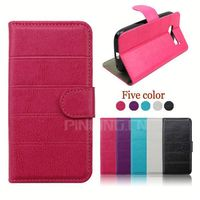 Hot selling Cross Grain Lady Wallet Style Leather Cover Case for Tecno M9