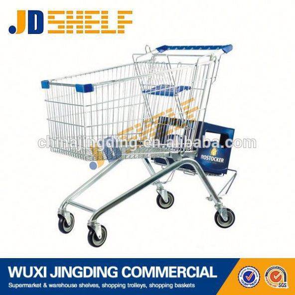 Zinc plated high quality trolley shopping bag with chair