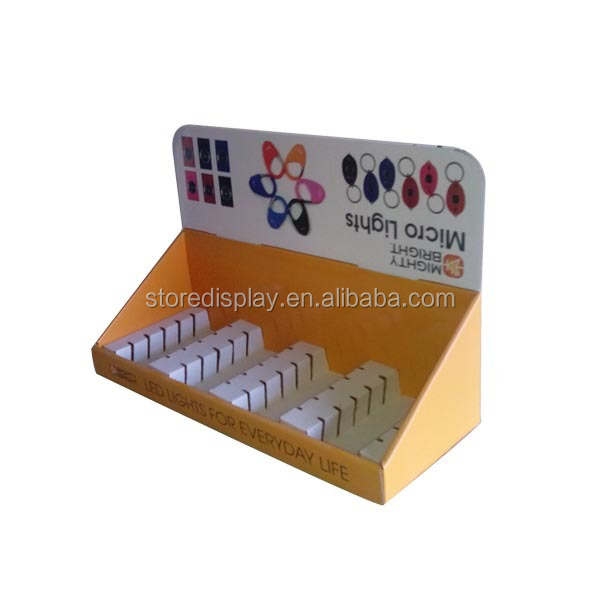 Point of sales counter top display tray for LED light promotion from China supplier
