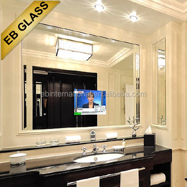 waterproof TV mirror , two-way mirror glass sheet,EB GLASS