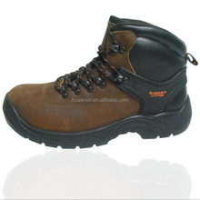 Brown crazy horse leather best men safety security boots