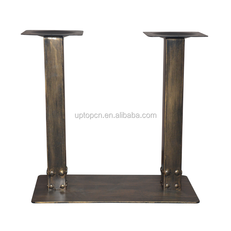 (SP-MTL223) Factory supply cast iron industrial rustic bronze table base
