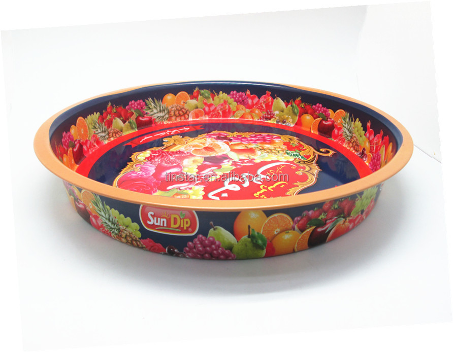 food grade metal service tin tray