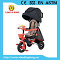 Children tricycle luxury new high quality baby trike with 360 degree rotatable seat and siliver wheels