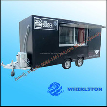 mobile street fast food kitchen van/concession truck/catering coffee trailer for sale