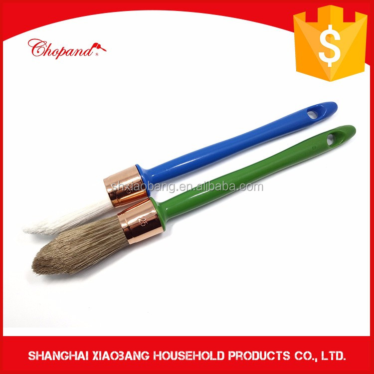 Bristle/Polyester Mix Filament Round Chalk Paint Brush with Plastic Handle