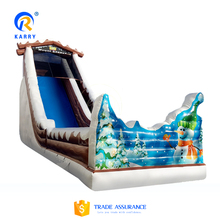 Tree house inflatable slide,Christmas theme giant slide,super free fall water slide for sale