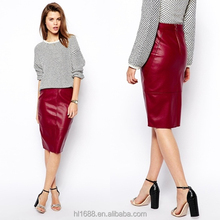 2014 Hot selling magic wrap skirt ladies red pencil skirt