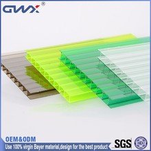 Lexan Unique single wall polycarbonate PC sheet for skylight and greenhouse plastic material