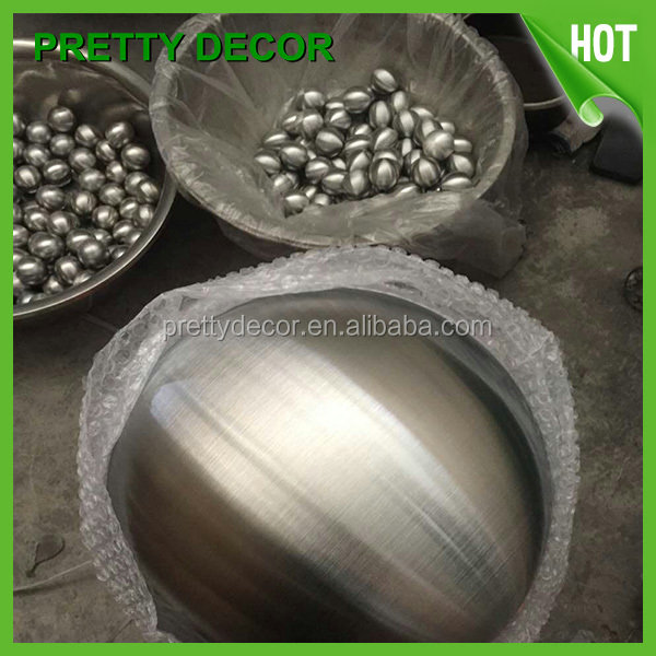 "Garden 4"" Brushed Stainless Steel hollow ball"