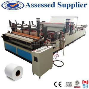 Best seller cheap embossed rewinding small toilet paper roll making machine