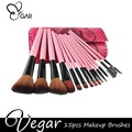 15pcs pink Snake pattern makeup brushes