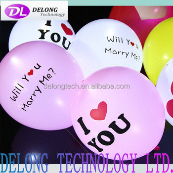 12 inch fashion led light balloon hot sale led latex balloons with logo