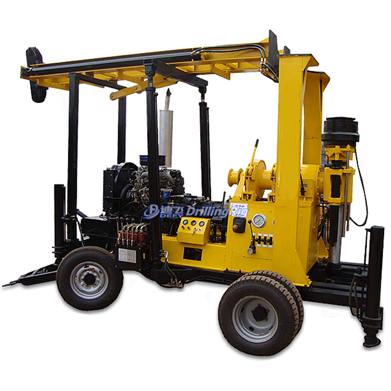 300m-600m XY-600F Portable Hydraulic Used Borehole Water Well Drilling Rig Machine