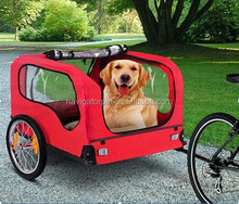 Floding Red Bicycle Pet Trailer
