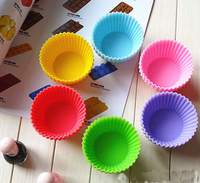 Food grade6- 7cm mini muffin cup mold different shape silicone baking cups