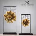 Chinese style metal tableware decorative lotus leaf showpieces