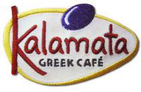 50% embroidery kalamata greek cafe patch
