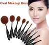 2016 New 10Pcs/Set Pro Beauty Toothbrush Shaped Foundation Power Eyebrow Eyeliner Lip Facial Makeup Oval Cream Brushes Tools