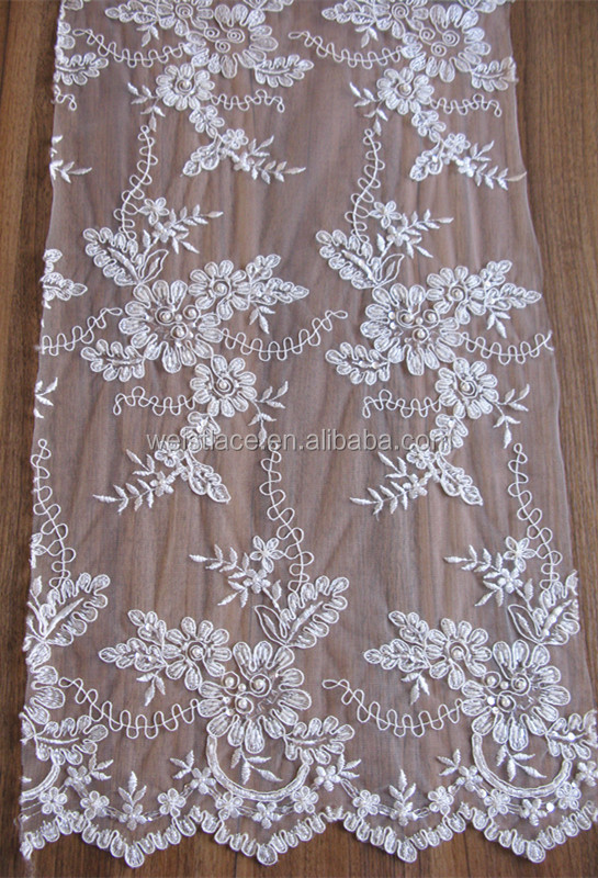 Embroidered china market in dubai wholesale net lace