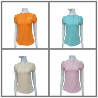 women pure color high quality horse riding shirt