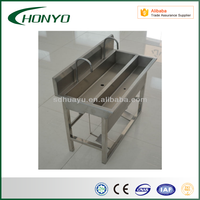stainless steel hand wash sink/sink double bowl slaught