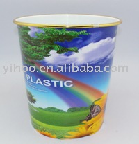 Colorful Household PP Materical Plastic Trash Bin