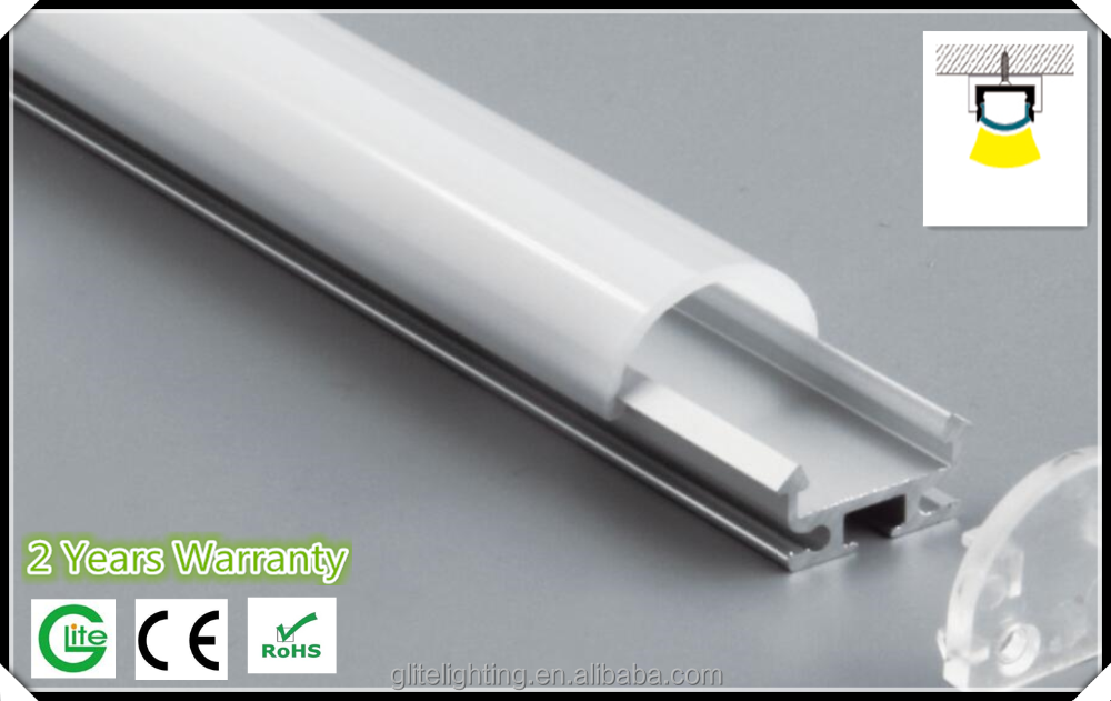 Best Choice Cheap Based Type Led aluminum profile from China Glite GL-S-ALP-01 Hanging&surface profile