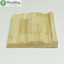 hardwood baseboard trim as rubber wood