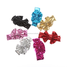 Shiny Hair Accessories Infant Toddler Headwear Kid Headbands Wholesale Cheap Baby Girl Bow Hairbands